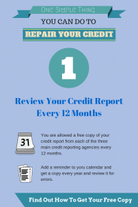 One Simple Thing You Can Do To Repair Your Credit